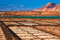 Las Salinas de Janubio on Lanzarote Stock Image