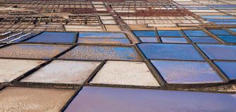 Las Salinas de Janubio, in Lanzarote, Canary Islands, Spain Royalty Free Stock Photo