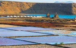 Las Salinas de Janubio, Western Lanzarote Stock Images