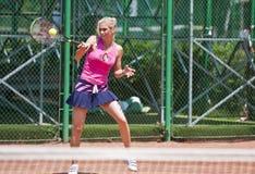 Las señoras de BCR abren la apertura principal de la arena del tenis Fotos de archivo libres de regalías