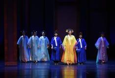 Las señoras del palacio-en las emperatrices palacio-modernas del drama en el palacio Foto de archivo