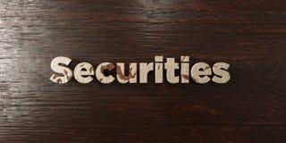Las seguridades - título de madera sucio en arce - 3D rindieron imagen común libre de los derechos ilustración del vector