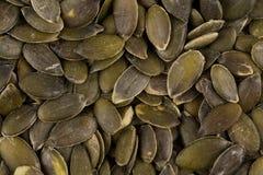 Las semillas de calabaza se cierran para arriba Foto de archivo libre de regalías
