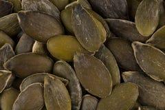 Las semillas de calabaza se cierran para arriba Imagen de archivo