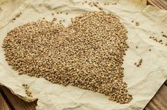 Las semillas del alforfón Foto de archivo