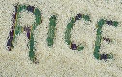 Las semillas del arroz Fotografía de archivo