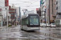 Las 9000 series Centram de la tranvía de la ciudad de Toyama Fotografía de archivo libre de regalías
