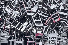 Las sillas quebradas fotos de archivo libres de regalías