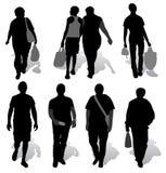 Las siluetas de una gente Foto de archivo libre de regalías