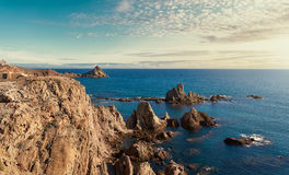 Las Sirenas in the Cabo de Gata-Nijar Natural Park. South-eastern corner of Spain royalty free stock images