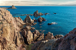 Las Sirenas in the Cabo de Gata-Nijar Natural Park Stock Photography