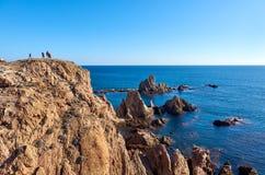 Las Sirenas in the Cabo de Gata-Nijar Natural Park Stock Photos