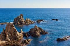 Las Sirenas en parc naturel de Cabo De Gata-Nijar Images libres de droits