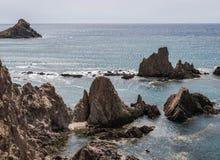 Las Sirenas nel parco naturale di Cabo de Gata-Nijar, contiene Almeria, Andalusia, Spagna Fotografia Stock