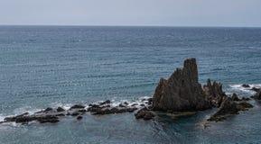 Las Sirenas nel parco naturale di Cabo de Gata-Nijar, contiene Almeria, Andalusia, Spagna Fotografie Stock