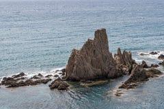 Las Sirenas nel parco naturale di Cabo de Gata-Nijar, contiene Almeria, Andalusia, Spagna Immagine Stock Libera da Diritti