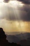 Las sombras del Gran Cañón Foto de archivo libre de regalías