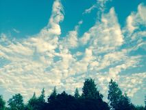 Las spotyka niebo Zdjęcie Stock