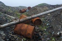 Las técnicas lanzadas en regiones árticas Imagen de archivo libre de regalías