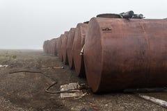 Las técnicas lanzadas en regiones árticas Fotografía de archivo libre de regalías