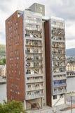 Las tablas que construyen en el mundo con el esqueleto de madera Foto de archivo