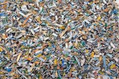 Las tarjetas de batería destruidas fotografía de archivo libre de regalías