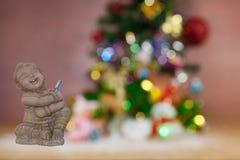 Las tarjetas de felicitación de la Navidad del festival y del Año Nuevo empañaron el recortes Imágenes de archivo libres de regalías