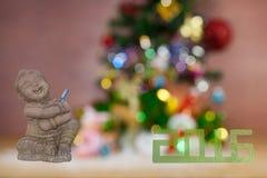Las tarjetas de felicitación de la Navidad del festival y del Año Nuevo empañaron el recortes Foto de archivo