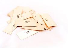 Las tarjetas de papel Fotos de archivo libres de regalías
