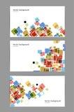 Las tarjetas de visita abstractas cubican el fondo Stock de ilustración
