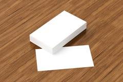 Las tarjetas de visita esconden la maqueta - plantilla, ejemplo 3D Imagen de archivo