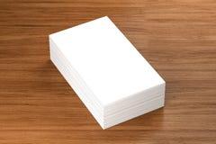 Las tarjetas de visita esconden la maqueta - plantilla, ejemplo 3D Foto de archivo