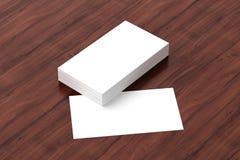 Las tarjetas de visita esconden la maqueta - plantilla, ejemplo 3D Fotos de archivo libres de regalías
