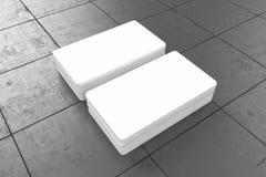 Las tarjetas de visita esconden la maqueta - plantilla, ejemplo 3D Fotografía de archivo