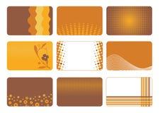 Las tarjetas de visita fijaron Imagenes de archivo