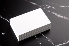 Las tarjetas de visita imitan para arriba Imágenes de archivo libres de regalías