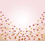 Las tarjetas del día de San Valentín cardan con los corazones Imagen de archivo libre de regalías