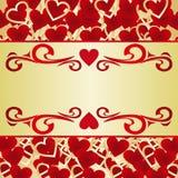 Las tarjetas del día de San Valentín cardan o una escritura de la etiqueta. Fotos de archivo