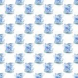 Las tazas de té azules maravillosas blandas artísticas preciosas gráficas hermosas de China de la porcelana modelan el ejemplo de Foto de archivo