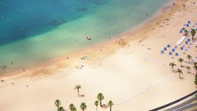 Las Teresitas海滩,特内里费岛 股票录像