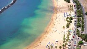 Las Teresitas海滩,特内里费岛 股票视频