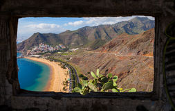 Las Teresitas Beach from an Abandoned House Royalty Free Stock Photo