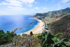 Las Teresitas Beach Tenerife Island Spain horizontal Royalty Free Stock Image
