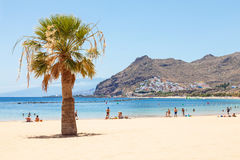 Las Teresitas Beach on Tenerife Royalty Free Stock Photos