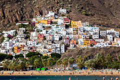 Las Teresitas. Beautiful beach Las Teresitas in Tenerife Royalty Free Stock Photo