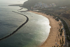 Las Teresitas de la playa Fotos de archivo libres de regalías