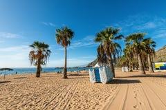 Las-teresitas setzen, Teneriffa, Kanarische Inseln, Spanien auf den Strand Stockfotos