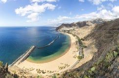 Las Teresitas strand på norden av den Tenerife ön Arkivfoto