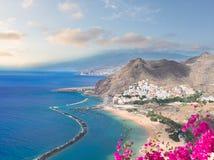 Las Teresitas strand, Tenerife Arkivfoto