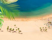 Las Teresitas strand, Tenerife Arkivbilder